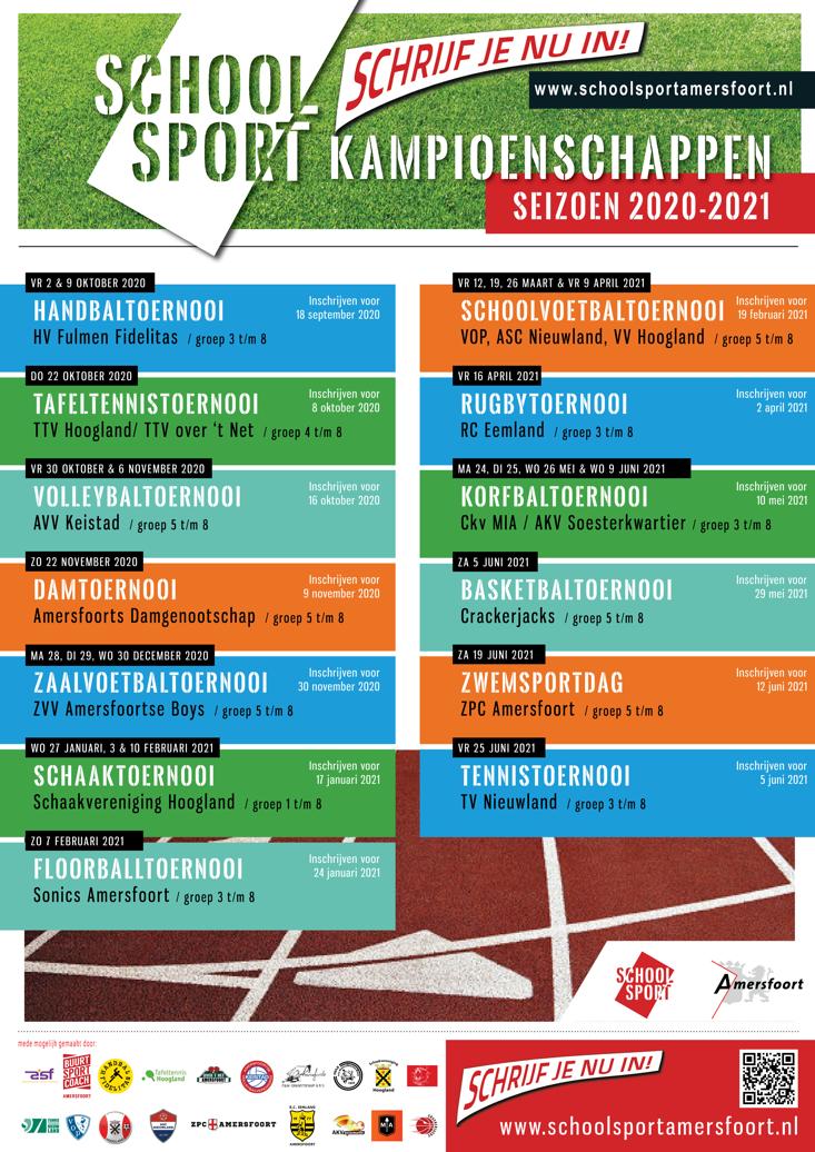 Amersfoortse Schoolsportkampioenschappen 2020 - 2021